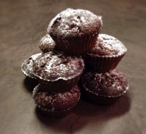 Glutenvrije sinaasappel-cacao cupcakes